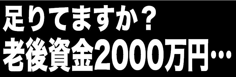 足りてますか?老後資金2000万円…